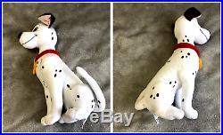 Disney Store 101 Dalmatians Stuffed Plush Lot 7 STAMPED Pongo Perdita RARE