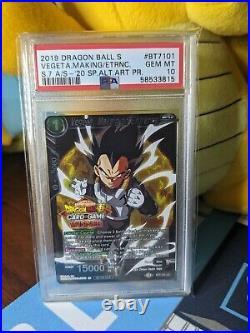 Dragon Ball Super Vegeta, Making An Entrance Winner Stamp PSA 10 Gem Mint Pop 1