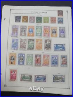 EDW1949SELL FRENCH POLYNESIA Very clean Mint & Used collection on pgs Cat $772