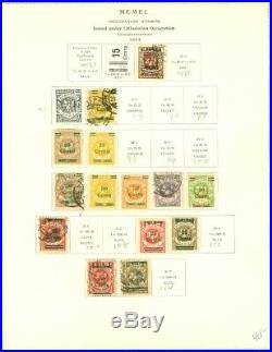 EDW1949SELL MEMEL Mint & Used collection of ALL DIFF on album pages. Cat $2094