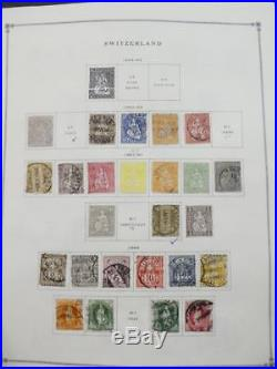 EDW1949SELL SWITZERLAND Very clean Mint & Used collection on pages. Cat $2,160