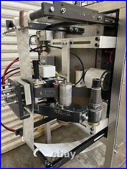 Form Fill Seal, 4-Sides Packet w Liquid Piston Filler & Heat stamp Lot Coder