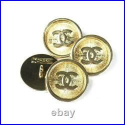 Four STAMPED VINTAGE CHANEL BUTTONS LOT OF 4 LOGO CC 20 mm