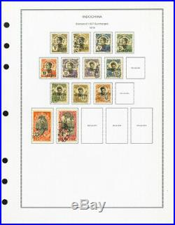 French Indo-China / Vietnam Pristine 1800s to 1940s Mint & Used Stamp Collection