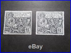 GB 1929 Commemorative StampsPUC£1Unmounted Mint & VFU SG438PairUK seller