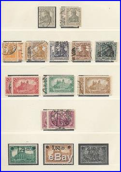 GERMANY REICH 1872/1933 Mint &Used Lindner Album Collection(450+)ALB122