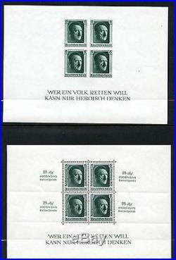 Germany Chancellor Souvenir Sheets Scott#b102/104 Mint Nh & B104 Used