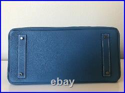HERMES Shoulder Birkin-JPG-Togo Leather-Blue Jean Color -stamp T -Mint Condition
