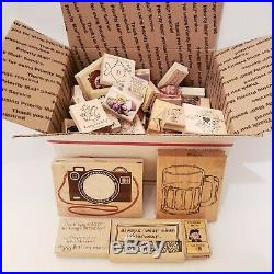 HUGE LOT 81+ Stampin Up Used Stamps Sets RETIRED Scrapbook Art School Class Home