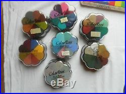 HUGE LOT COLOR BOX Petal Point Paintbox Crafters Brush, Ink Pads & Refills