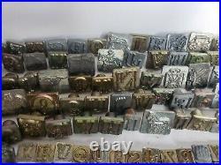 HUGE Vtg Craftool Leather Stamps Lot 286 USA Saddlemaker Tool Leathercraft Rare