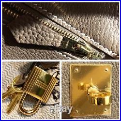 Hermes Etoupe Togo Gold Hardware 35cm Birkin Mint X Stamp 2016