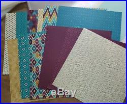 Huge CROPPER HOPPER Project Storage Tab Folder Lot Bonus Stampin Up 12 x 12 DSP