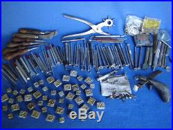 Huge Lot Craftool & Osborne Leather Working Tools Stampspuncheslettersknives