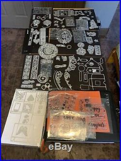 Huge Lot Tonic Studios Dies Binder Stamps Kits Baubles Bows Dot Drop Butterflie