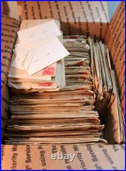 Huge Lot of 600 Vintage Envelopes 1890s 1900s 1910s Embossed States DAMAGED Used