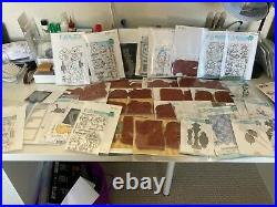 Huge Lot of LaLa Land Crafts Stamps and Dies