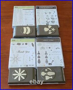 Huge Stampin' Up Stamp, Die & Punch Lot Sold As Group (over $1200 retail value!)