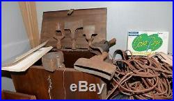 Huge leather workers lot punch stamps cobbler saddler collectible vintage tools