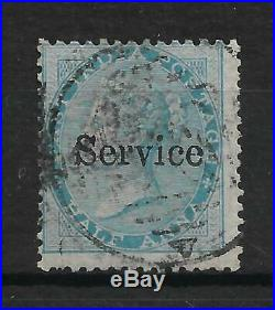 India 1866 QV SG O7c 1/2a No Stop Variety ERROR FU SG Val £800 for Mint