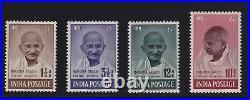 India Sc #203-6 (1948) Mahatma Gandhi Set Mint VF LH