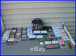 Ink Pad Lot Ink It Up Whispers + Embossing Powder New & Used Mixed Lot