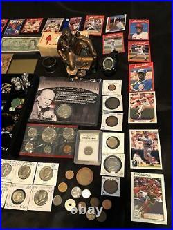 Junk Drawer Lot Eisenhower Silver Proof Walking Liberty Mercury Sterling Stamps