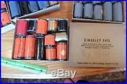 Kingsley Foil Lot Red Gold Orange Black for vintage Hot Foil Stamping Machine