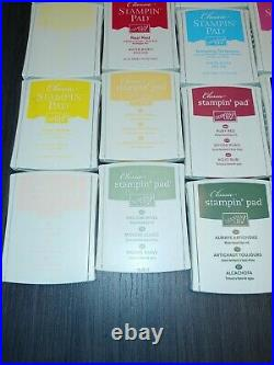 LOT Stampin' Up 45 Classic Stamp Ink Pads (Used LN)
