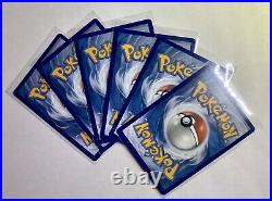 LOT (x6) Pikachu 25th Anniversary Stamped General Mills Promo Cards Pack Fresh