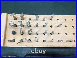 Large Lot Vintage Leather Tools Punches, Supplies, Stamps, Extras Craftool