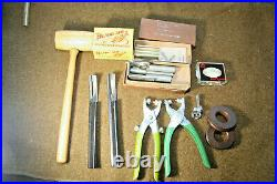 Large Lot of 104 Vintage CraftTool Leather Crafting Stamps + More Leather Tools