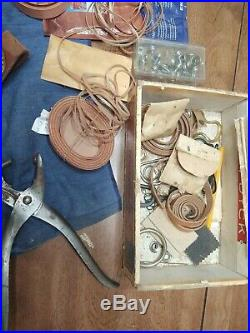 Large lot Vintage 37 + Pc Craftool USA & H/D Leather Tools Stamp Set + mis