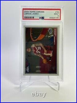 LeBron James Cavaliers 2009-10 Topps Chrome Basketball #/999 #16 PSA 9 Mint