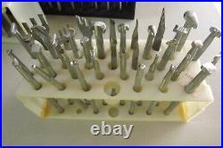 Leather Craftvintagecraftoollarge Lot Of 144 Stamp Tools Plus