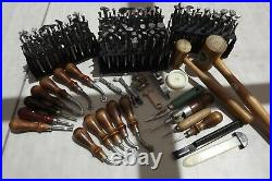 Leather Craftvintagecraftoollarge Lot Of 148 Stamps Plus A Lot More Tools