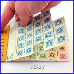 Lot 2 Canadian World War 2 Ration Stamp Books & Flyer WWII Canada 5 & 6 Set