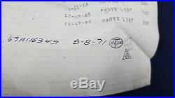 Lot 6 NASA Stamped Tagged Part Saturn V Skylab Module Assembly Diode 1971