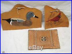 Lot Craftool & Other Leather Working Craft Stamp Punch Tools Swivel Knife