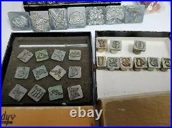 Lot of 100+ Vintage Craftool / Tandy Leather Craft Stamps/Tools Hand Tools