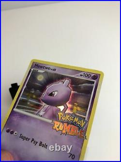 Mewtwo 9/16 Pokemon Rumble 2009 Rare Promo Holo Foil Stamped Card MINT
