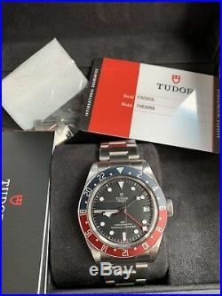 Mint Tudor Black Bay GMT PEPSI Automatic Men Watch M79830RB-0001 AD STAMP 2/18