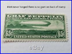 Mint no gum 65c Graf Zeppelin stamp other air mail stamps