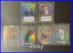NBA Mint Obsidian Card Lot! 2 Autos, RC, 3 Serial Numbered /49, /59, 75 Read