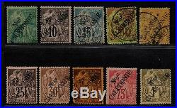 $New Caledonia Sc#23-33 used+mint, fine, 23 25-27 used, Cv. $1152.50