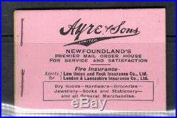 Newfoundland Booklet #1 Extra Fine Mint Complete Booklet