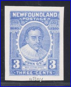 Newfoundland Stamp #89tc Trial Color Proof 1910 With Cert Mint