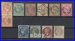 O3951/ France 1853 / 1875 Used Classic Lot