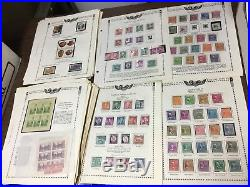 Old Used/Mint US Stamp Collection On Pages + Albums! Estate Sale Find! Must See