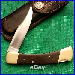 Old Vintage Buck USA 110 Inverted Stamp Pocket Knife Knives Lot Sheath